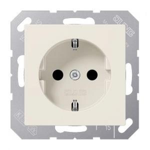 Jung AS range Wandcontactdoos Inbouw (stucwerk) RA 1V Crèmewit (elektrowit) A1520N