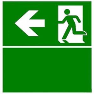 Eaton Blessing BL ISO Perspexplaat t.b.v. Evoled S, pijl links+groen vlak