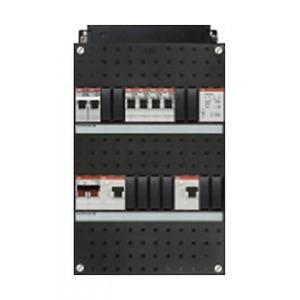 ABB 4x achter 2x 30mA+FT+HS, 1-f Installatiekast