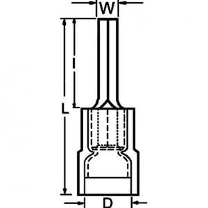 Klemko A2519SR-P9,5 PENSTEKER 2,5MM2 BLAUW