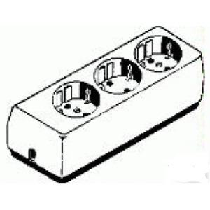Legrand Tafelcontactdoos standaard 3x2P zonder snoer