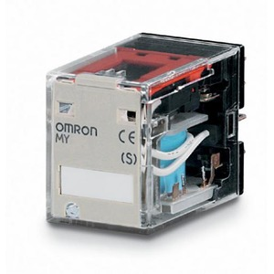 Omron MY,4 wisselcontacten,24VDC/5 A,4-polig,insteek,LED,diode,mono,gepol.