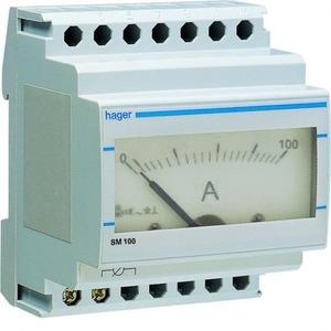 Hager Amperemeter analoog 0-100 A