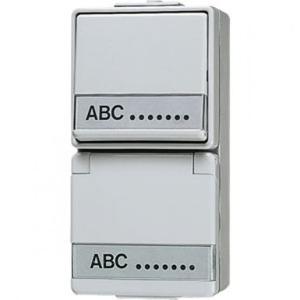 Jung Combinatie wandcontactdoos met beschermingscontact 16 A 250 V ~ / wips