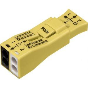 Wago Steker verbinding 2-pol geel