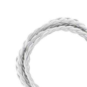 Bailey TEXTILE CABLE TWISTED 2C WHITE 3M