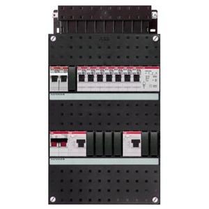 ABB 7x achter 2x 30mA+FT+HS, 1-f Installatiekast