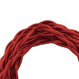 Bailey TEXTILE CABLE TWISTED 2C METALLIC RED 3M