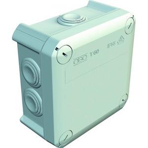 OBO Kabeldoos M25, 6mm2 500V, IP66 114x114x57, PP, lichtgrijs, RAL 7035