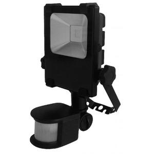 Newlec LED SCHIJNWERPER 10W ZWART MET PIR