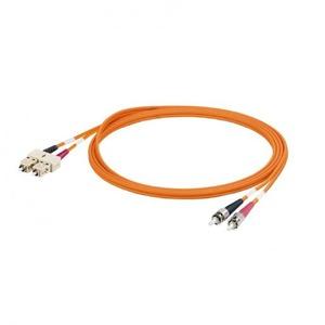 Weidmuller (ASSEMBLED) FIBRE-OPTIC DATA CABLE, ZIPCORD, SC DUPLEX IP 2, ST IP 2,