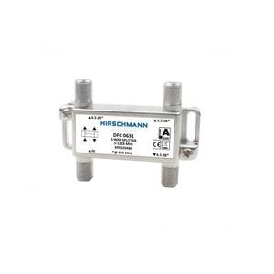Hirschmann DFC 0631 drieverdeler 6dB geschikt tot 1,2 GHz retourgeschikt