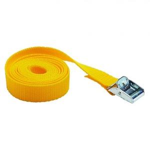 Bizline Spanband met klemsluiting 1.5 mx25mm geel