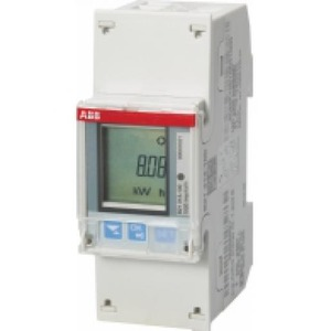 ABB ENERGIEMETER 1 FASE DIRECT 65A, 230V AC KLASSE B, 2XI / 2XO, ACT. / RE