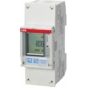 ABB ENERGIEMETER 1 FASE DIRECT 65A, 230V AC KLASSE B, 2XI / 2XO, ACT. / RE