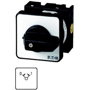 Eaton Stuurschakelaar, 1p, Ie=12A, FS 0 >< 1, 45°, terugverend, 48x48mm, inb