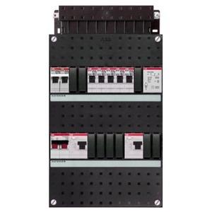 ABB 5x achter 2x 30mA+FT+HS, 1-f Installatiekast