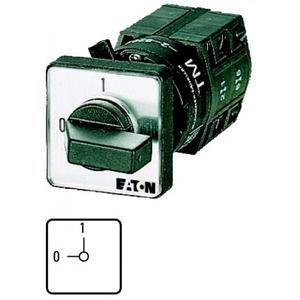 Eaton Aan-uit-schakelaar, 1p, Iu=10A, FS 0-1, 90°, 30x30mm, eengats frontinb