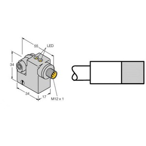 Turck MAGNETIC FIELD SENSOR, FOR PNEUMATIC CYLINDERS (MAGNETIC-FIELD IMMUNE)