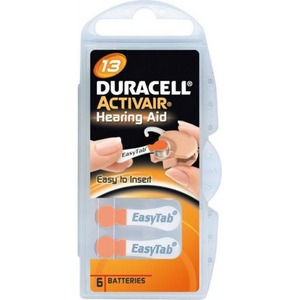 Duracell DA13 1,4V 7,9X5,4MM KNOOPCEL DS6
