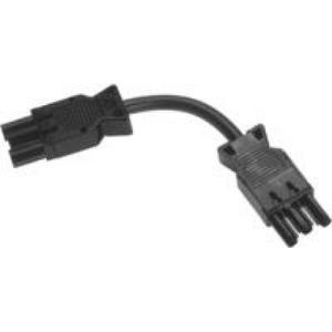 Wieland GST18I3 KABEL M/F 1,5MM2 3M ZWART PVC 90°C