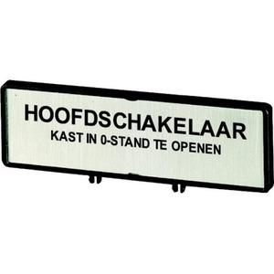 Eaton DRAGER,+SCHILD, HOOFDSCHAKELAAR ALLEEN IN 0-STAND OPEN, IN NL, VOOR D