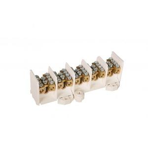 Hager K aansluitklem voor hoofdkabel 5p DIN-rail/schroef 20-aansluitingen K025