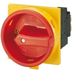 Eaton Hoofdschakelaar, 3p+N, Ie=12A, greep rood geel, 0-1, 90°, inbouw
