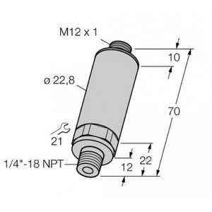 Turck PRESSURE TRANSMITTER, WITH VOLTAGE OUTPUT (3-WIRE)