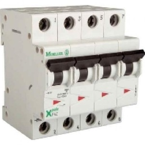 Eaton Installatieautomaat FAZ-C63/3N , C 63A , 4 Polig incl. NUL , 15 kA