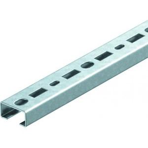 OBO Profielrail geperf., sleufbreedte 17 mm 2000x35x18, St, FS