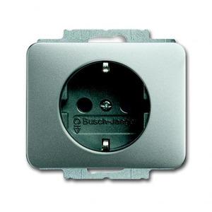 ABB Busch-Jaeger ALPHA exclusive, ALPHA nea wandcontactdoos RA 1V KV Titanium 2013-0-5253