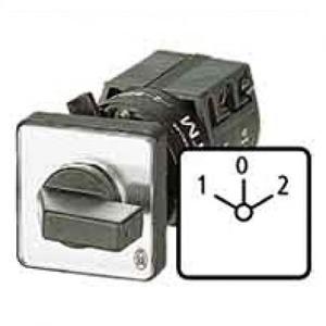 Eaton Omschakelaar, 1p, Ie=12A, FS 1-0-2, 45°, vast, 48x48mm, eengats fronti