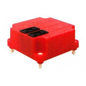 ABB Conn. deksel, 2x3p, rood+aansluitdr..