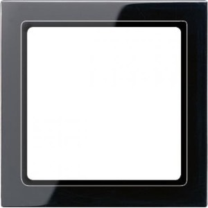 Jung LS range Afdekraam 1V Zwart IP44 LS961Z5SW