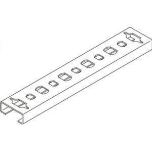 OBO Profielrail geperf., sleufbreedte 11 mm 2000x20x8, St, FS