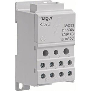 Hager VERDELERKLEM 1-POLIG 500 A 2X 2,5-35²/5X 2,5-16²/4X 2,5-10²