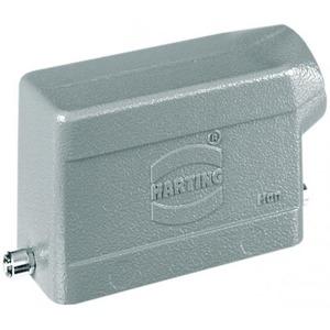 Harting 411 Behuizing rechthoekige connectoren IP65 B93,5mm H62,5mm Stekkerbehuizing Zij 09300161540