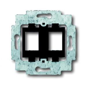 ABB Busch-Jaeger AXCENT, Alpha exclusive, Alpha nea bodemplaat schakelmateriaal 2-voudig Zwart 1753-0-8063