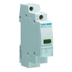 Hager LED signaalmodule groen, 230 VAC