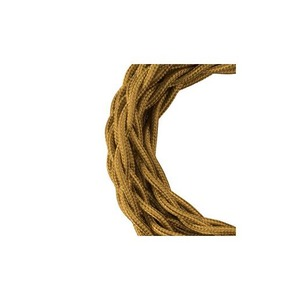 Bailey TEXTILE CABLE TWISTED 2C METALLIC GOLD 3M