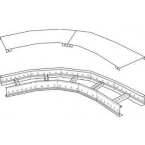 Stago LB4000 Bocht/hoekstuk kabelladder 45° 600x100mm CSU737910