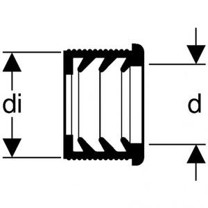 Geberit GEBERIT GUMMILIPPENRING VOOR BUIS IN BUIS VERBINDING D 63/50