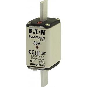 Eaton ZEKERING, LAAGSPANNING, 80 A, AC 500 V, NH1, GL/GG, IEC, DUBBELE MELDE