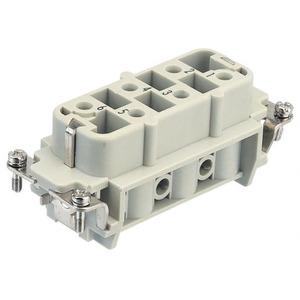 Harting 412 contactblok industriële connector 6 09310062701