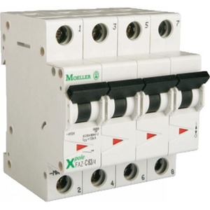 Eaton Installatieautomaat FAZ-D16/3N , D 16A , 4 Polig incl. NUL , 15 kA