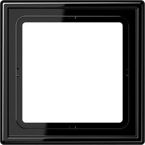 Jung LS range Afdekraam 1v Horizontaal en verticaal Zwart IP44 LS981SW Pak