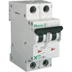 Eaton Installatieautomaat FAZ-C50/1N , C 50A , 2 Polig incl. NUL , 15 kA