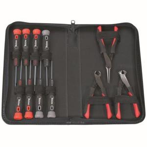 Bizline Koffer voor elektronisch gereedschap met 8 schroevendraaiers en 3 tangen