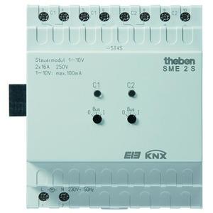 Theben SME 2 S KNX 2-kanaals regelunit MIX 1, 1-10V, uitbreidingsmodule